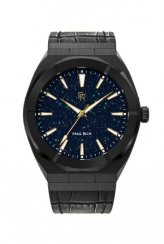 Paul Rich zwart herenhorloge met leren band Star Dust - Leather Black