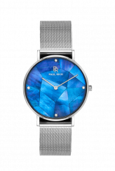 Reloj Paul Rich plateado para mujer con correa de acero inoxidable Heart of the Ocean - Silver Mesh