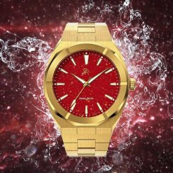 Goldene Herrenuhr Paul Rich mit Stahlband Star Dust - Red Gold Limited Edition 0 - 500 pcs