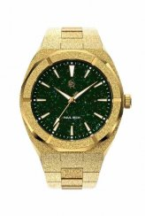 Montre homme en or Paul Rich avec bracelet en acier Frosted Star Dust - Gold Green 45MM