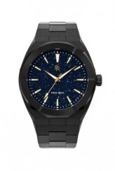 Men's black Paul Rich watch with steel strap Star Dust - Black  42MM