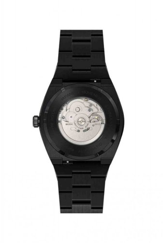 Schwarze Herrenuhr Paul Rich mit Stahlband Star Dust Frosted - Black Automatic 45MM