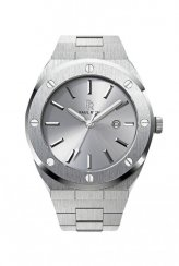 Men's silver Paul Rich Signature watch with steel strap Apollo's Silver