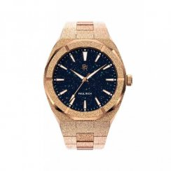 Montre homme en or Paul Rich avec bracelet en acier Star Dust - Rose Gold 45MM