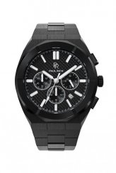 Paul Rich heren zwart horloge met stalen band Motorsport - Carbon Fiber Black