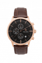 Montre homme en or Paul Rich avec bracelet en cuir véritable Sheffield - Leather