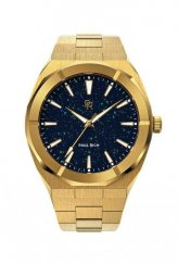 Gouden herenhorloge van Paul Rich met stalen band Star Dust - Gold 45MM