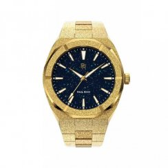 Montre homme en or Paul Rich avec bracelet en acier Frosted Star Dust - Gold 45MM