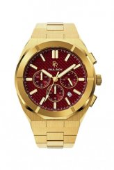 Paul Rich gouden herenhorloge met stalen band Motorsport - Carbon Fiber Gold Red