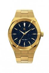 Gouden herenhorloge van Paul Rich met stalen band Star Dust - Gold 42MM