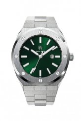 Men's silver Paul Rich Signature watch with steel strap Emperor's Emerald