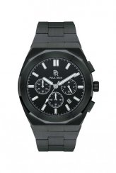 Paul Rich men's black watch with a steel strap Motorsport - Black Steel