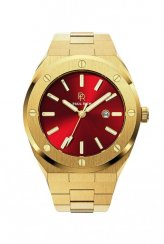 Men's Paul Rich gold watch with steel strap Sultan's Ruby