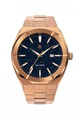 Men's Rose Gold Paul Rich Signature watch with steel strap Star Dust - Rose Gold Automatic 45 MM